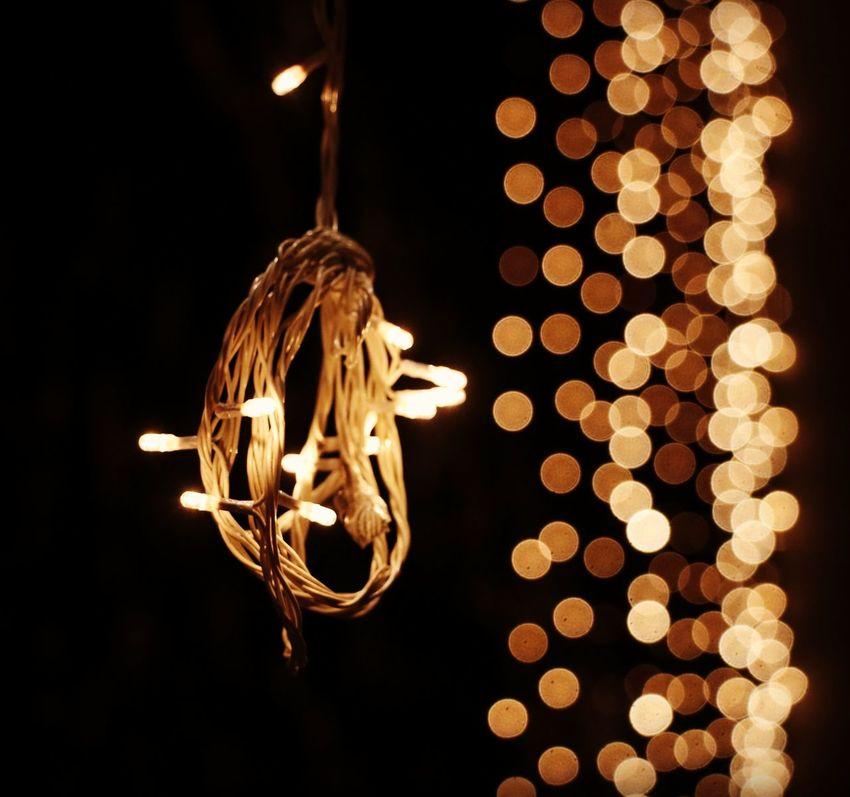 celebrations.. Gurupurab Guru Gobind Singh Ji Birthdat Celebrations Hanging Illuminated Lighting Equipment Light Bulb No People Electricity  Black Background Christmas Lights