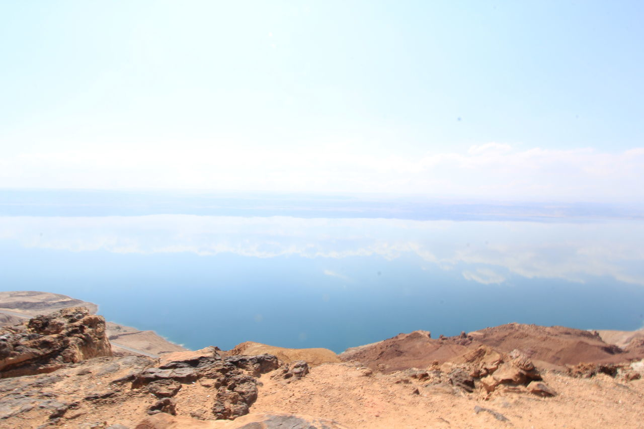 Arid Climate Beauty In Nature Clear Sky Day Dead Sea  Deadsea Idyllic Landscape Mirror Reflection Mountain Nature No People Non-urban Scene Outdoors Physical Geography Rock - Object Scenics Sky Tranquil Scene Tranquility Water Reflection