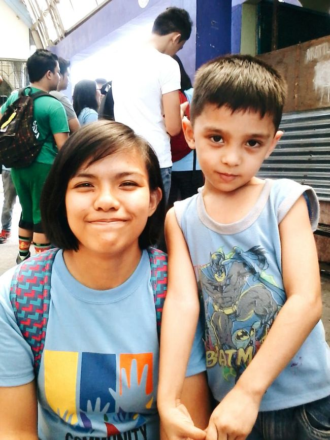 Met this little kid back when we were doing outreach programs at Masville for our CPH subject. Throwback Cph Outreachprogram Enjoying Life Happy Missingthem Missingthemsomuch