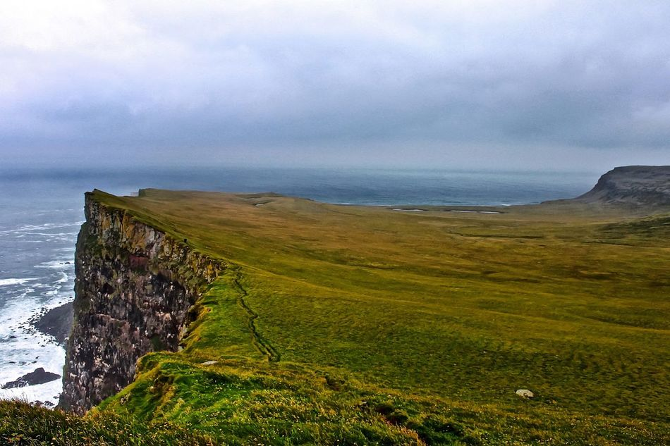 Beauty In Nature Cliffs Grass Iceland Iceland_collection Latrabjarg Sea Water