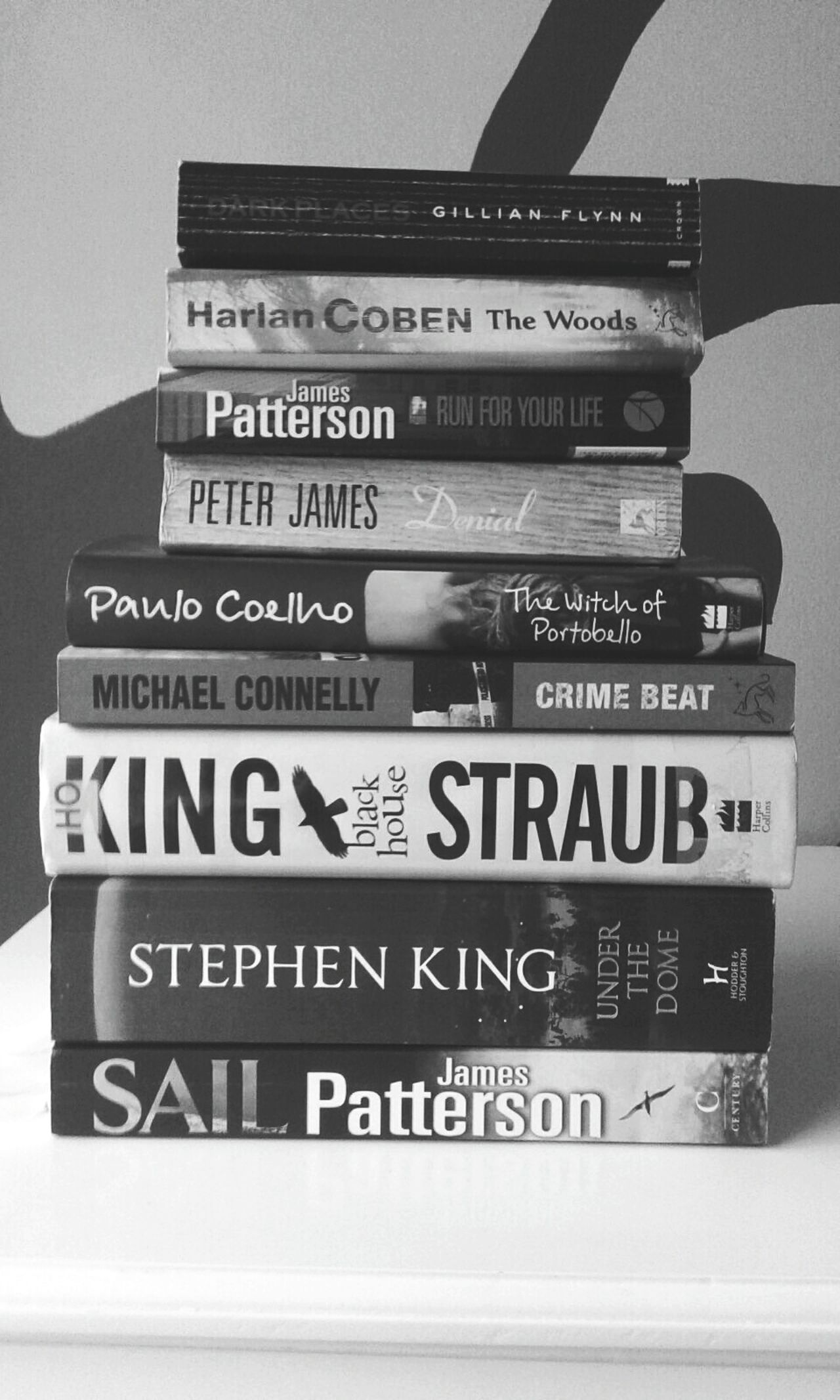 I bought all of these books within 2 days. And I nearly fainted when Harlan Coeben was one of the people to like this photo on my instagramShowcase: January Bookworm Stephenking New Chapter  Turn The Page New Year New Beginnings Harlan Coben Paulo Coelho James Patterson Peter James Gillianflynn Niccifrench Black And White EyeEm Best Shots