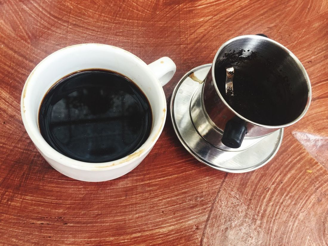 Drink Food And Drink Refreshment Still Life Coffee Cup Coffee - Drink Table Freshness Close-up High Angle View No People Indoors  Day Relax Time  Coffee Time Coffee ☕ Coffee Vietnamcoffee Drinking Coffee Luwak Luwak Coffee LuwakPooCoffee Luwakcoffee