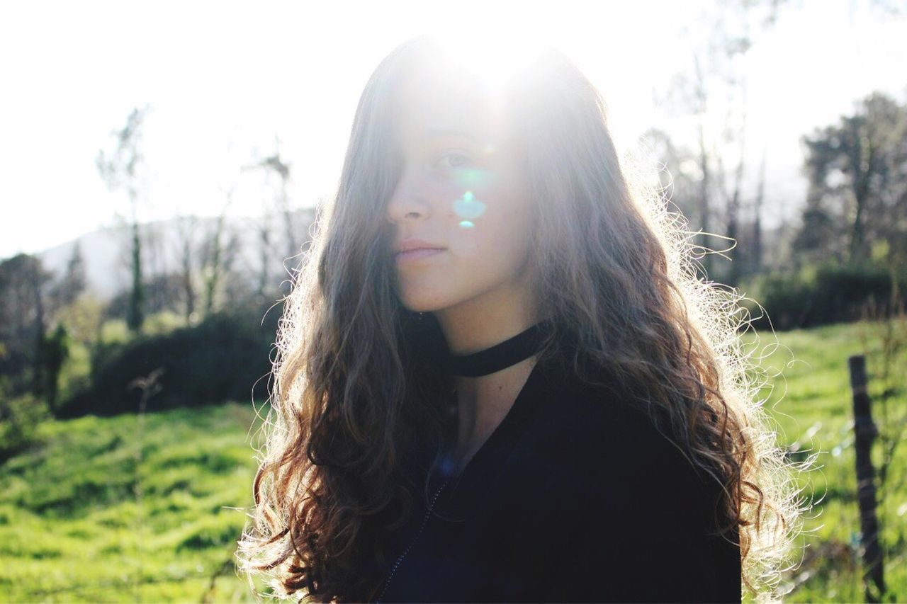 DONA VERA Long Hair Young Adult Sunlight One Person Outdoors Young Women Portrait Beautiful Woman Day Focus On Foreground One Young Woman Only Beauty Adult Only Women Nature Grass One Woman Only People