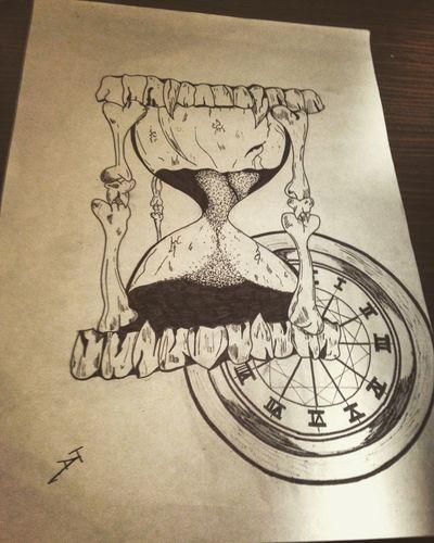 ⌛️ Drawing Drawings Ink Hourglass Hourglassdraw
