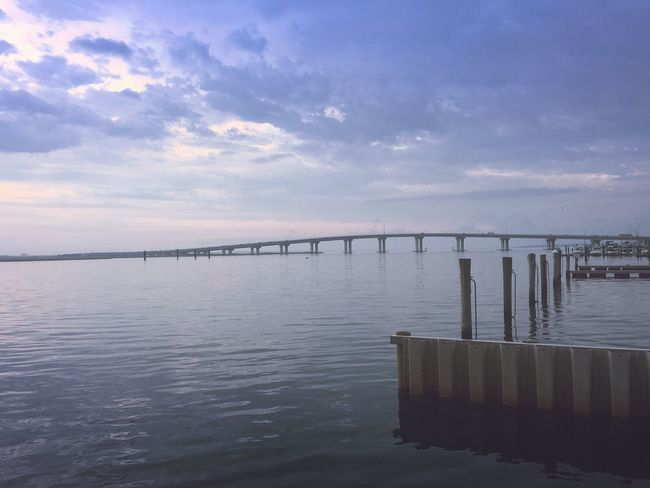 OceanCity Bridge Evening Tranquil Scene Hello World Summer Outdoors Clouds And Sky Bay
