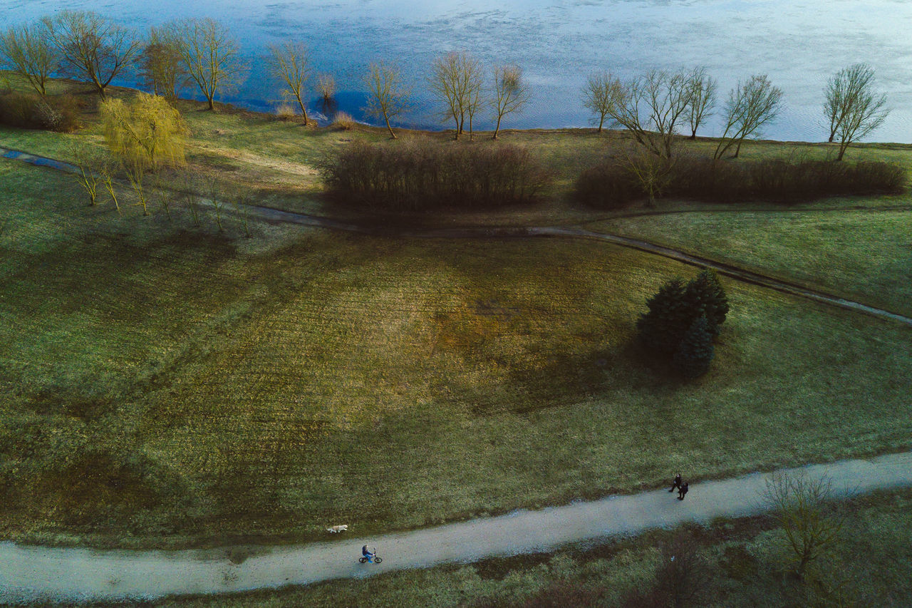 Walking Bare Tree Beauty In Nature Day DJI Mavic Pro Drones Landscape Lietuva Mavic Mavic Pro Nature Outdoors Scenics Sky Spring Tranquil Scene Tranquility Tree Water
