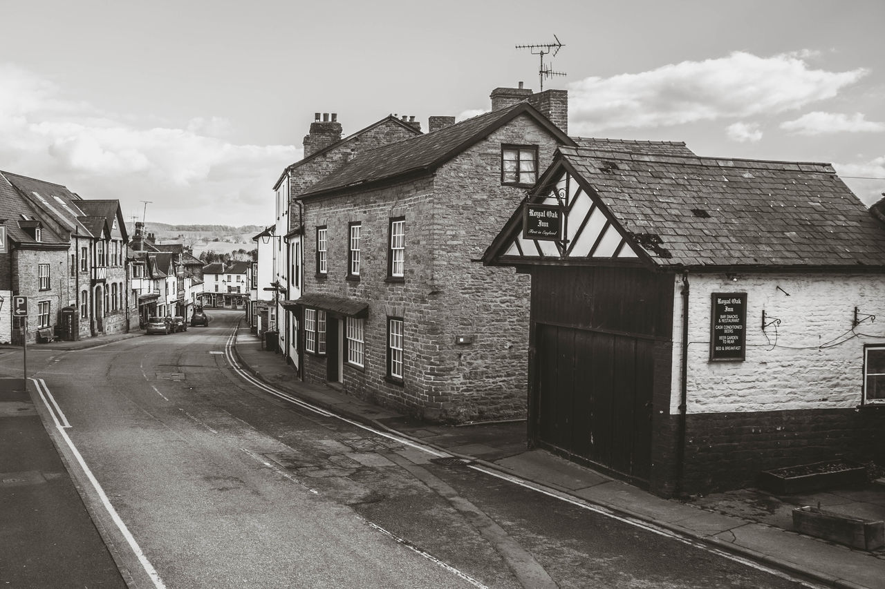 Kington streets... Architecture Black And White Building Exterior Built Structure Countryside Day England English Town Herefordshire High Street Kington Little Town Little Town In The Middle Of Nowhere Old Building  Old Building Exterior Old Buildings Old Town Outdoors Road Shop Shops Town Village Village Life