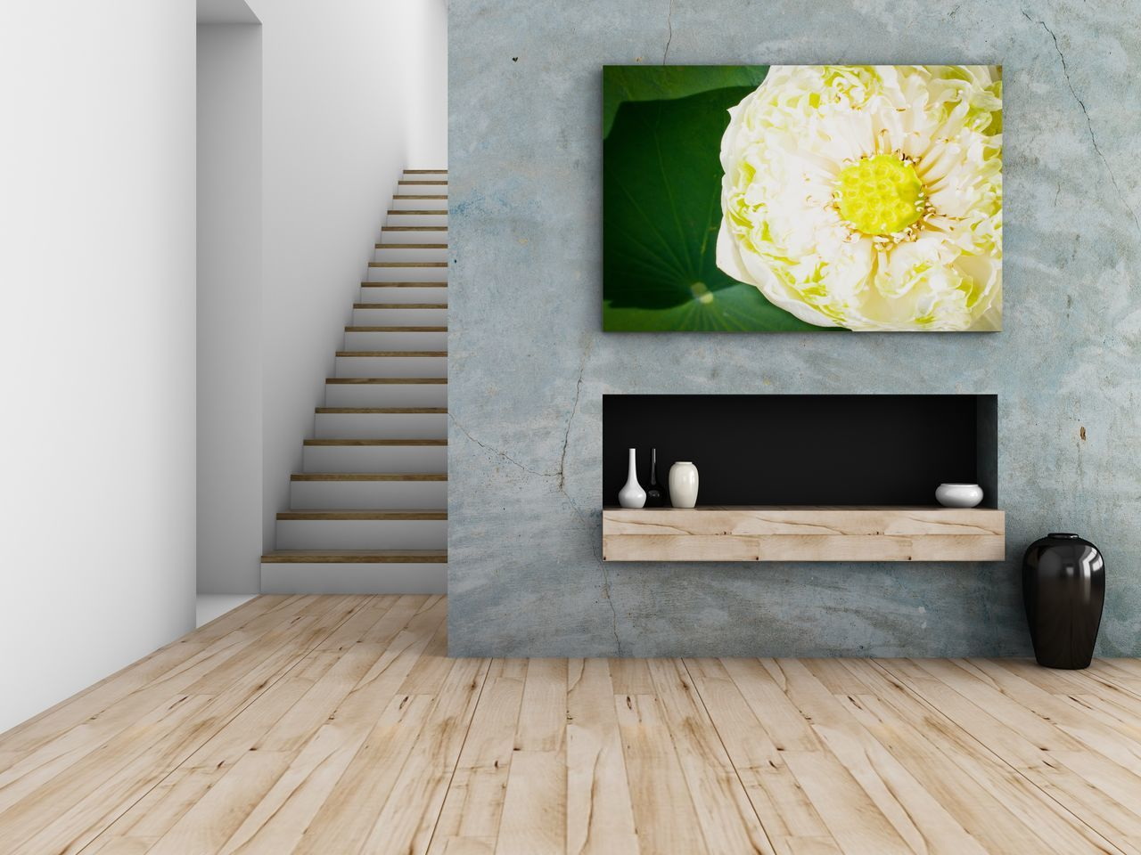 Close-up Day Design Flower Freshness Home Home Showcase Interior House Indoors  Interior Lifestyle Living Luxury Modern Nature No People Shelf Sparse Stair