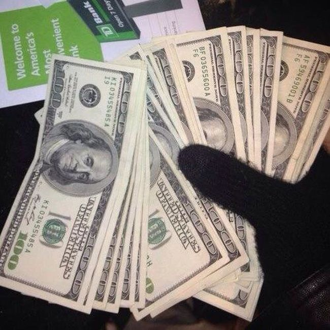 Just Came From The Bank