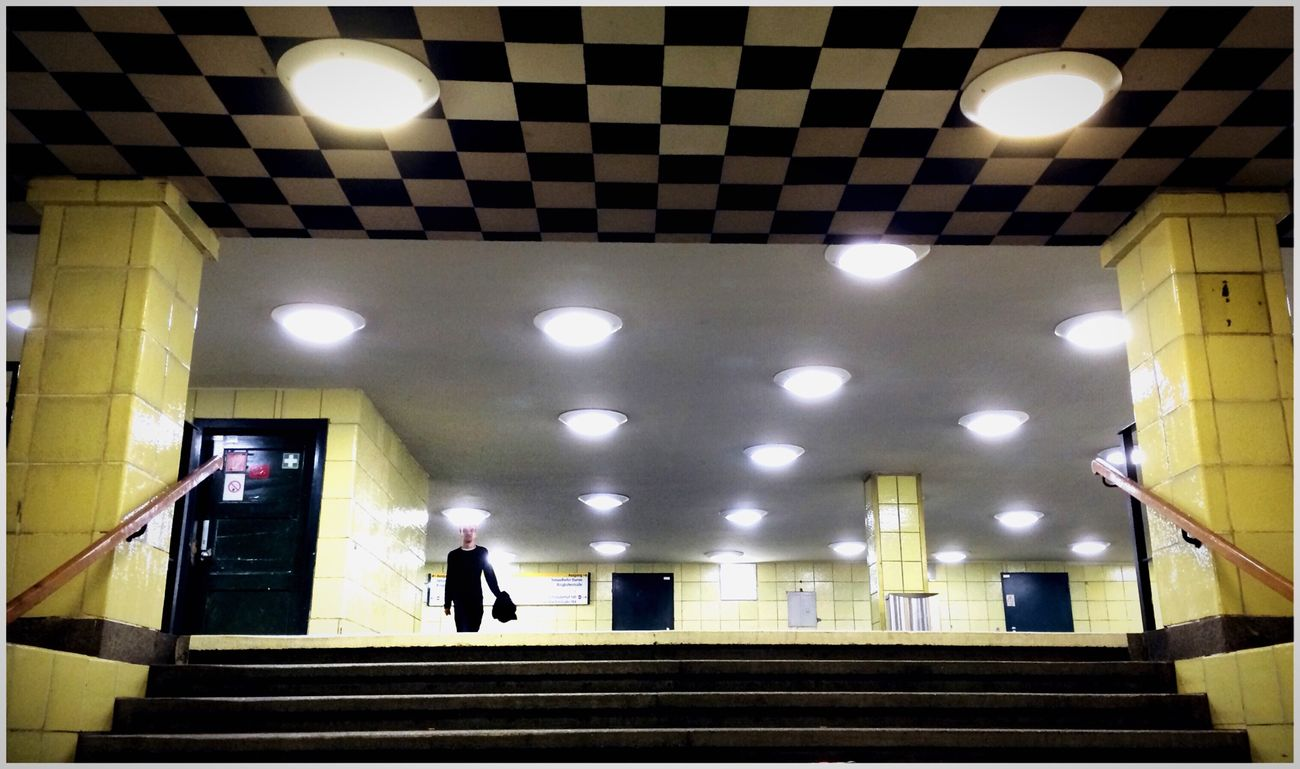 Checkers People Watching Illumination Lights Light And Shadow Shillouette Stairs Metro Contrast Lerone-frames A Moment Of Zen... Best Of Stairways