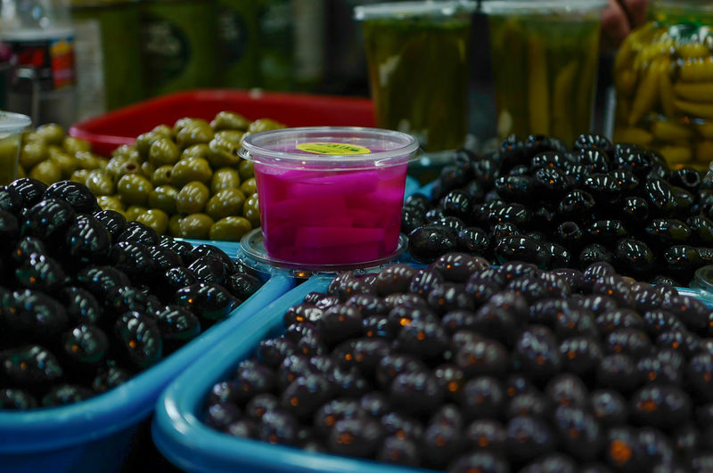 Fresh Produce Olves Abundance Close-up Day Food Food And Drink For Sale Freshness Fruit Healthy Eating Israel Large Group Of Objects Market Market Stall No People Organic Food Variation Vegan