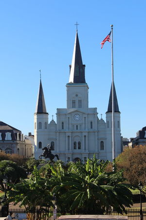 Church Architecture Church Tower And Blue Sky Jackson Square St. Louis Cathedral