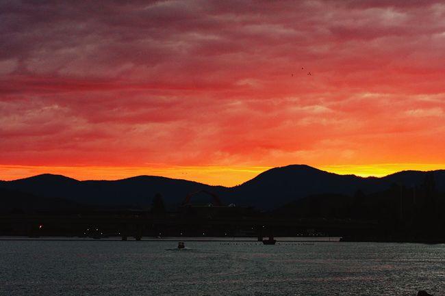 Sunset in Canberra Enjoying Life Canberra Skyfire2016