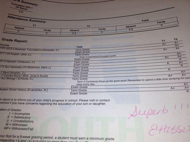 My Grade Card