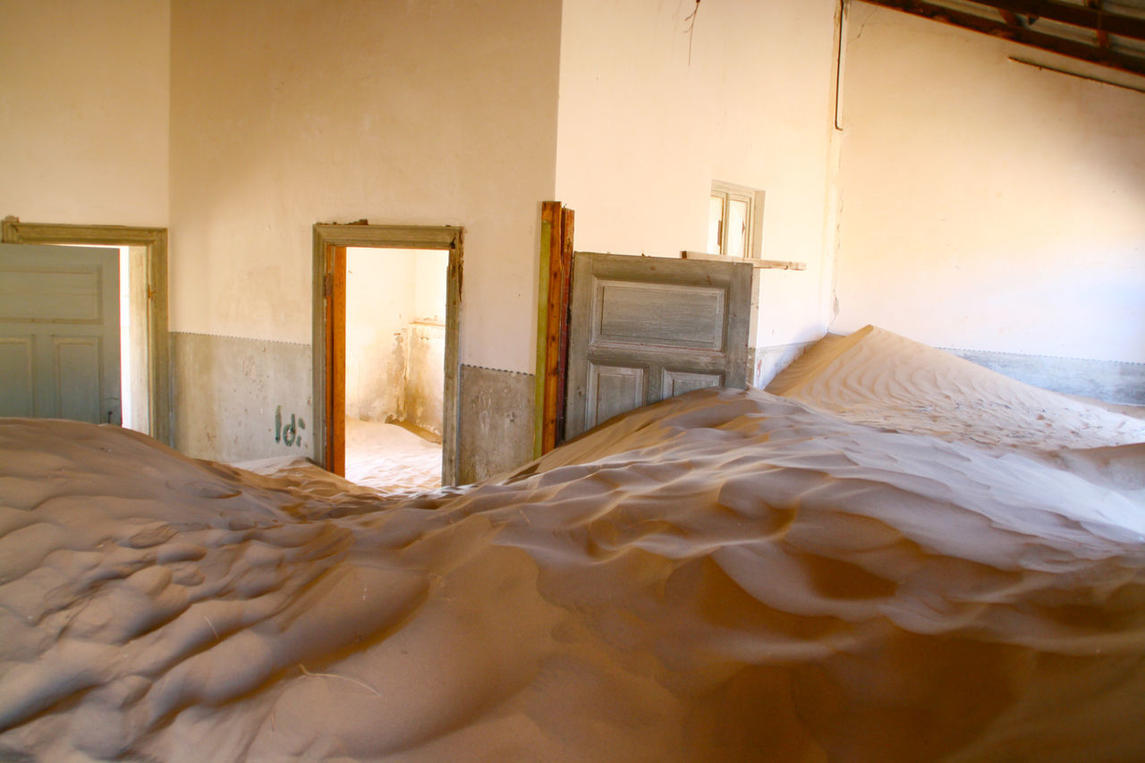 Africa Broken Ghost Town Home Interior Indoors  Keetmanshoop Messy Modern Namibia Nature Nature Photography Neat No People Old Town Pillow Sand Sand Dunes Surface Level Surreal Unreal Wall - Building Feature