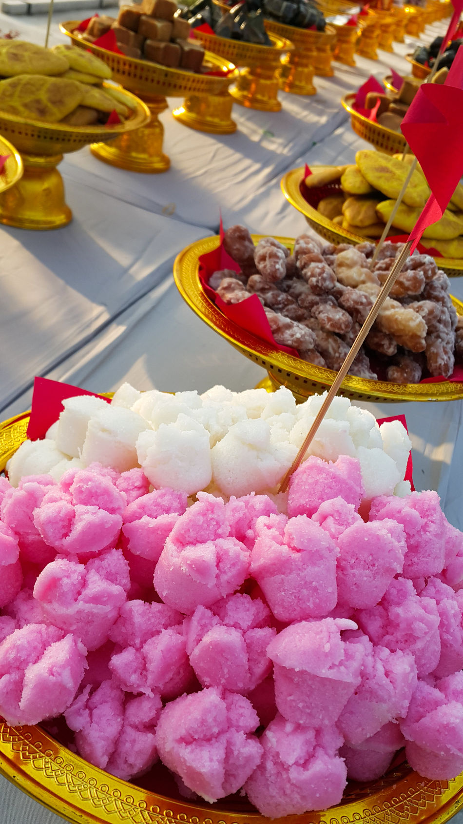 Sweet Dessert Pink Color Wedding Thai Chinese Tradition Traditional Wedding Wedding Sweets