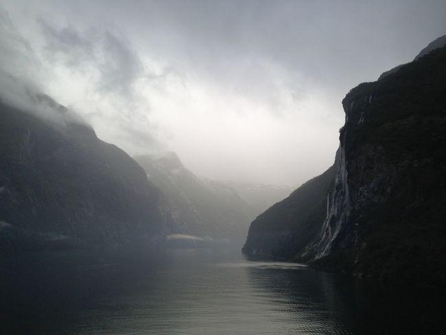 Clouds Fog Geirangerfjord Majestic Mystic Norge Norwegen Power In Nature Seven Sisters Market Bestsellers May 2016 Bestsellers