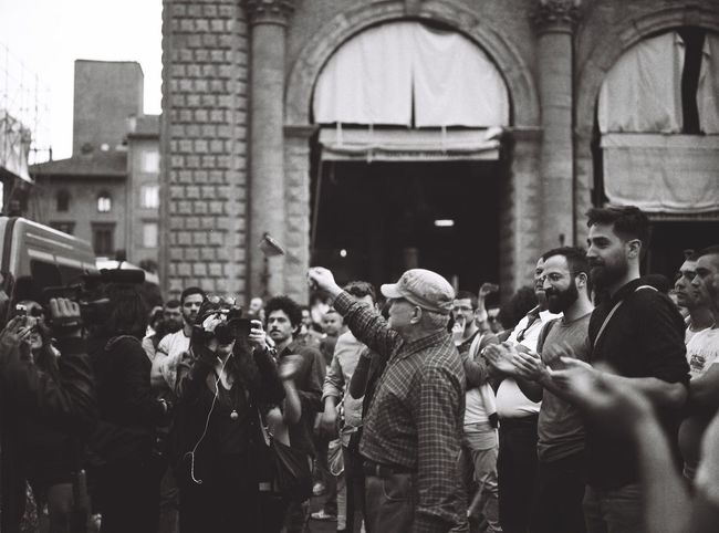 During the Protest of Matteo Salvini Italy Pentax Travelgram 120 Film EyeEm Best Shots Makeportraits ExploreEverything Visualsgang Analog Streetleaks Photooftheday Shootfilm Shootfilmnotmegapixels Bologna, Italy Protest Noir Et Blanc Europe EyeEm Best Shots - Black + White