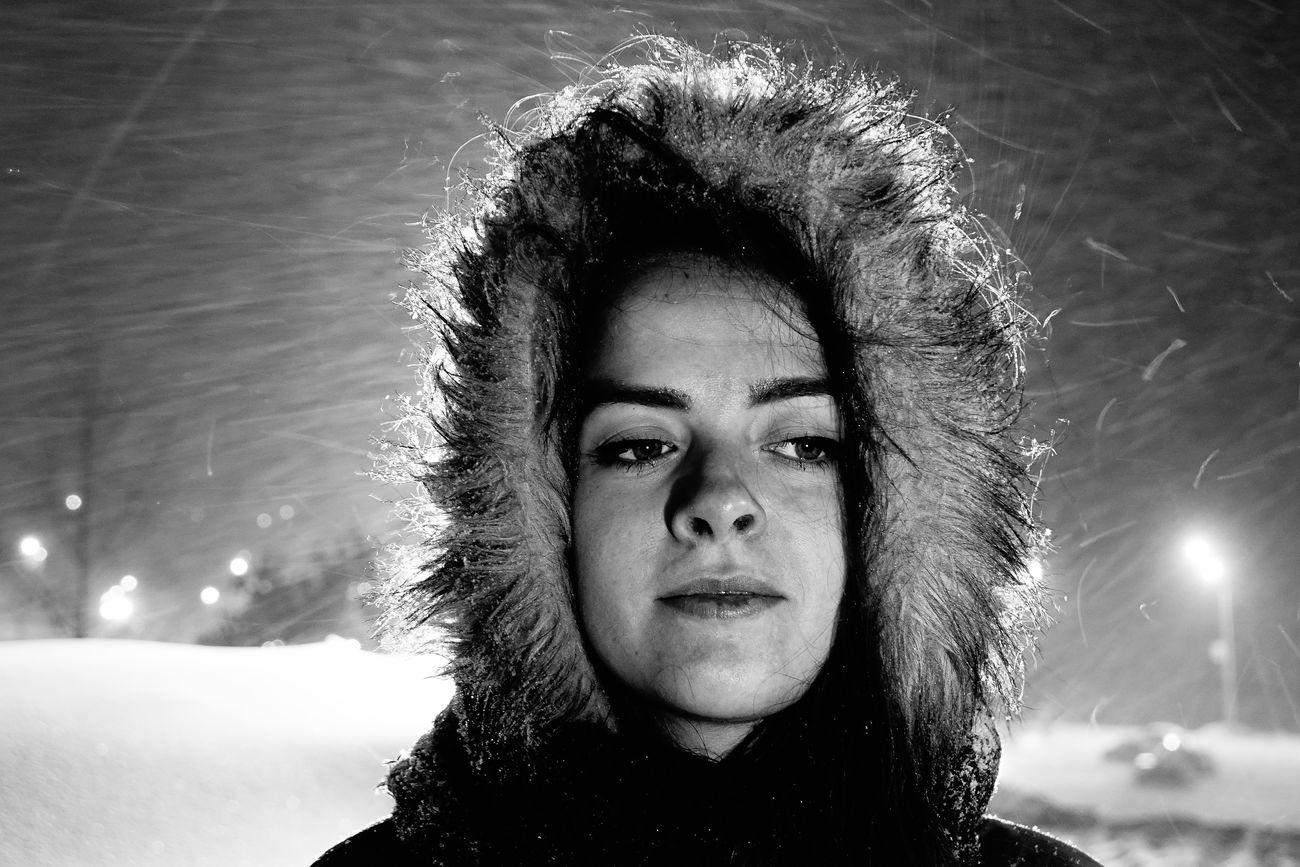Cold Girl One Person Portrait Russia Russian Girl RX10II RX10M2 Snow Snowflake Snowflakes Sony Winrer