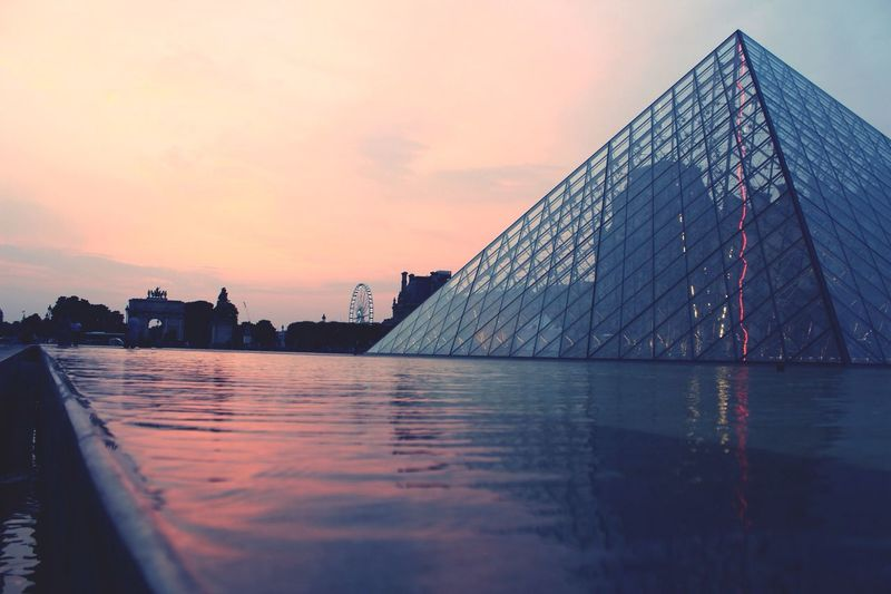 French pyramid sunset. Sunset Paris First Eyeem Photo Traveling First Eyeem Photo