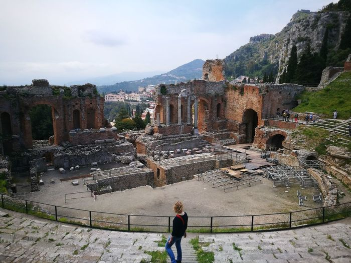 EyeEm History Architecture Sky Teatre  Taormina Nature Teatrogreco Travel Tourism Tourist Destination Landscape Live For The Story Let's Go. Together.