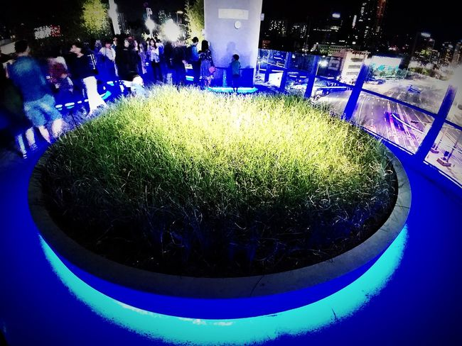 Night Arts Culture And Entertainment Illuminated Blue Outdoors People The Architect - 2017 EyeEm Awards