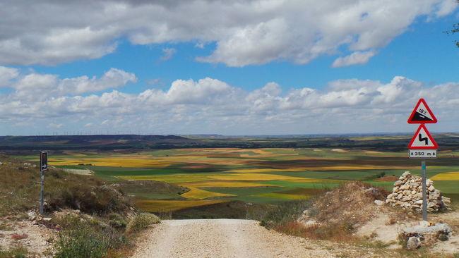 Camino CaminodeSantiago Clouds And Sky El Camino De Santiago Himmel Jakobsweg Sky Sky And Clouds Way Way Of Saint James Weg Wolken Road Sign Verkehrszeichen