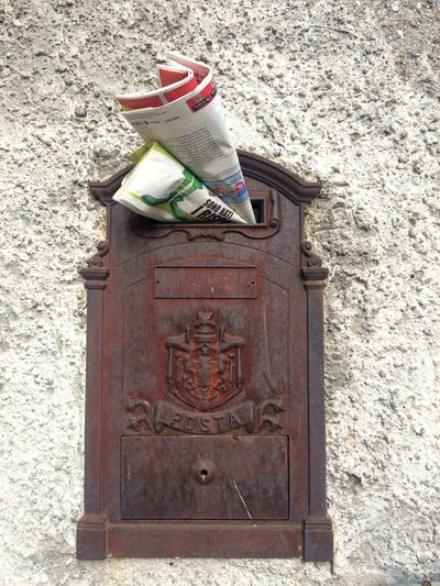 EyeEmNewHere Mailbox Newspaper No People Close-up Lets Travel Loveitaly🇮🇹 Letstravel checkyourmailbox