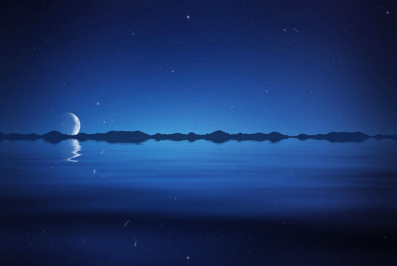 Beautiful stock photos of galaxy, Beauty In Nature, Blue, Copy Space, Crescent