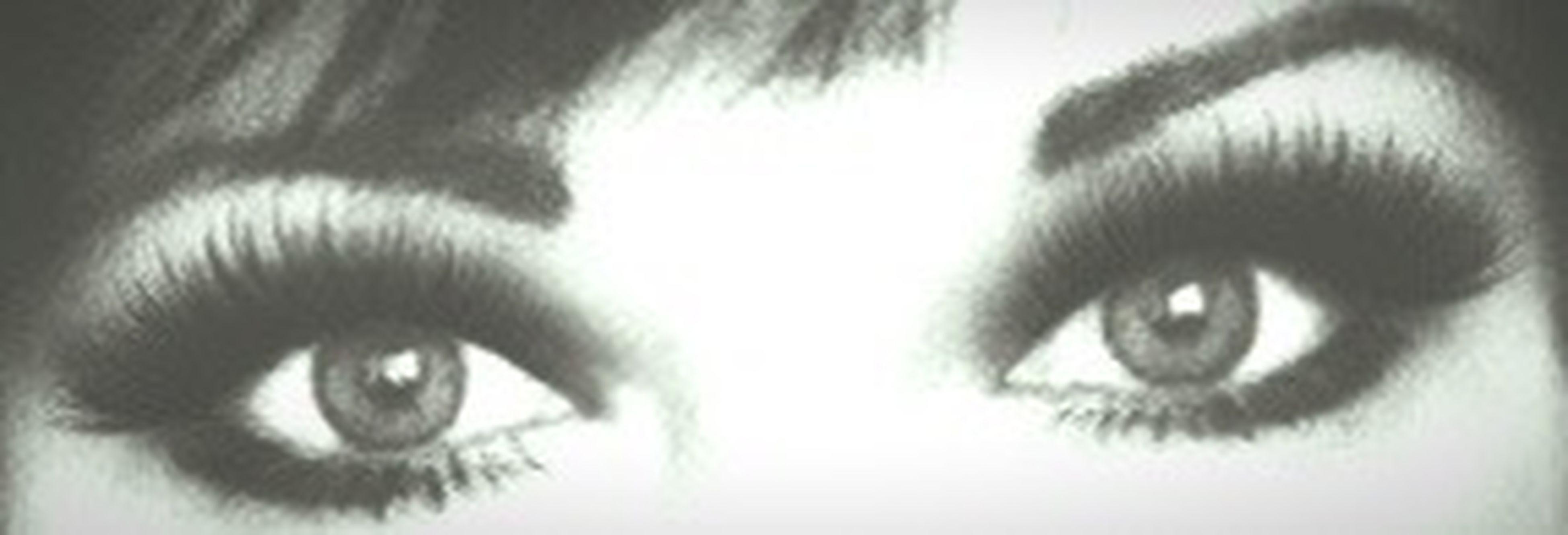 close-up, looking at camera, human eye, portrait, headshot, human face, part of, eyesight, indoors, eyelash, lifestyles, sensory perception, young adult, front view, staring, extreme close up, selective focus