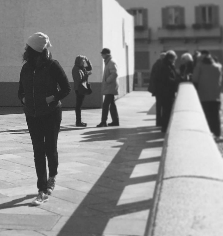 """""""A journey of a thousand miles begins with a single step."""" — Lao Tzu Walking Around People Are People People Of EyeEm Peoplephotography Eye4photography  Blackandwhite Black & White Walking Around The City  Walking Around Monochrome Citylife Traveling Travel Italy People Photography Urbanphotography Urban Lifestyle"""