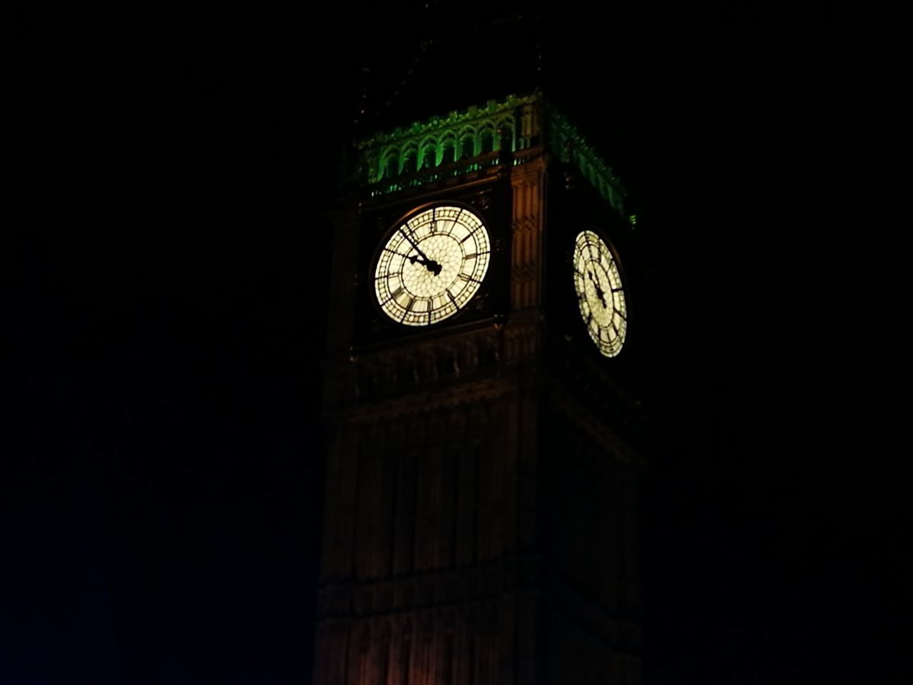 ELIZABETH TOWER (Big Ben)- Midnight No People Outdoors Day Clock Tower Clock Tower Big Ben Hello World London Huawei P9 Plus Big Ben, London Time Clock Face Minute Hand Instrument Of Time Hour Hand