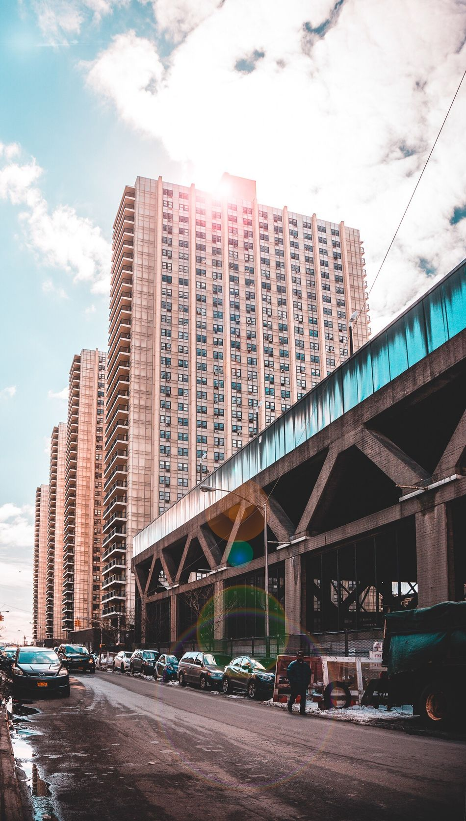 Washington Heights Architecture Built Structure Building Exterior Transportation City Car Bridge - Man Made Structure Land Vehicle Day Connection Outdoors Skyscraper Sky No People NYC Washington Heights