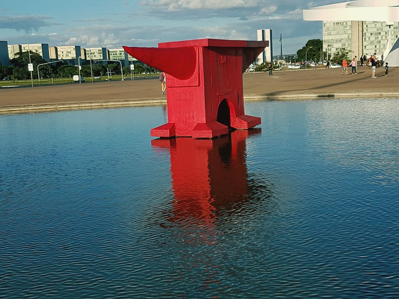 Red Water Day Outdoors No People Brasília - Brazil City Modern Architecture