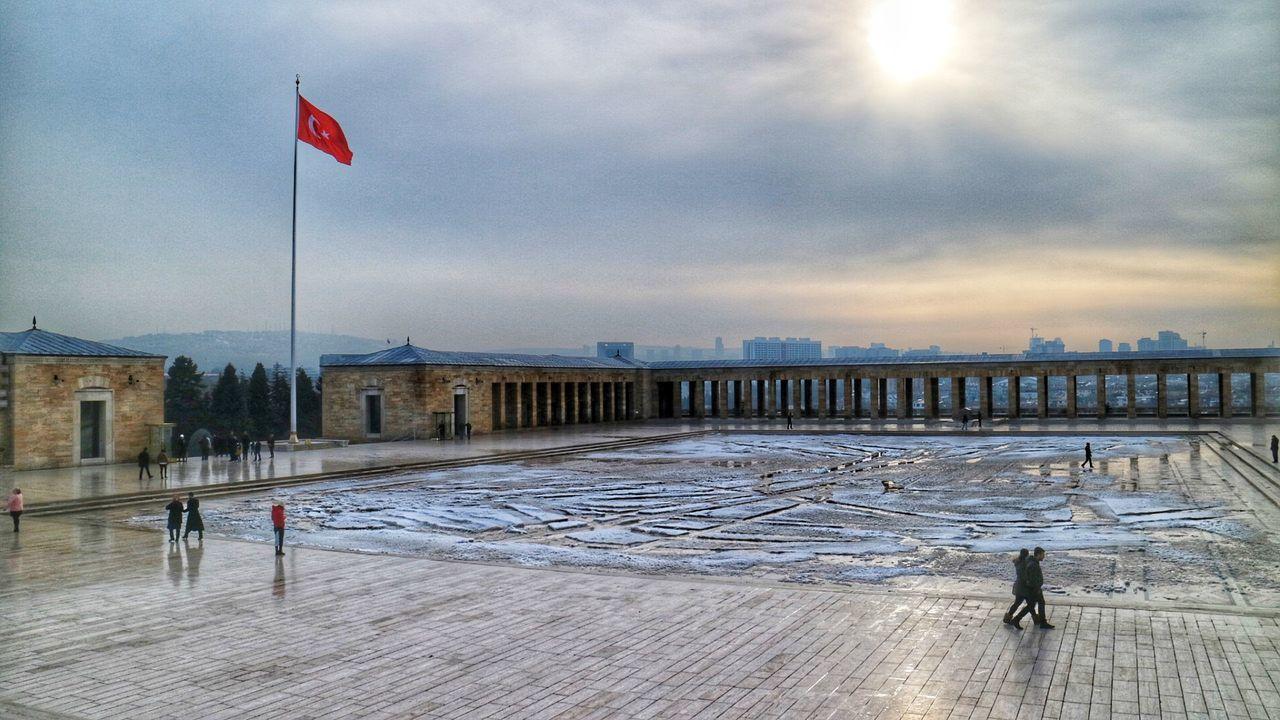 Anıtkabir Ankara Flag Snow Winter Architecture Eye4photography  Taking Photos The Week On Eyem Built Structure