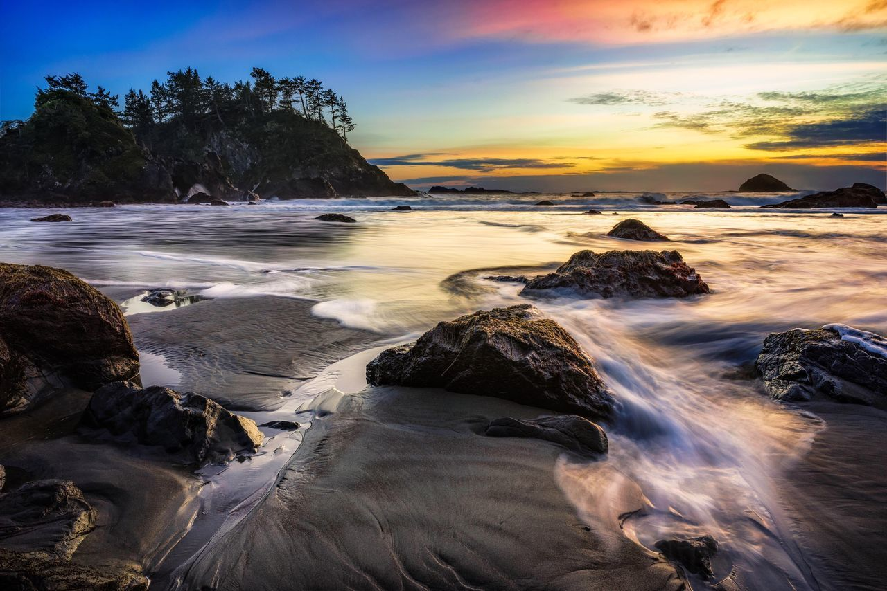 The KIOMI Collection Seascape Beach Cove Humboldt County Zeiss Sony A7r California Sunset Ocean Peaceful Wide Angle Landscape 21mm Rocks First Eyeem Photo