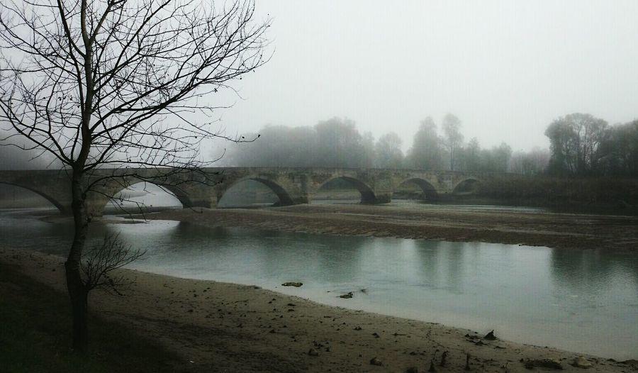 Bridge Winter Throwback Fog