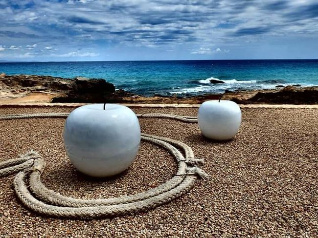 Return to Pepperland? Pepperland Beatles The Beatles Yellowsubmarine Clouds And Sky Eye4photography  Hello World Photooftheday Taking Photos My Point Of View Nature Mypointofview Formentera Baleares Holiday Formentera Island Spain♥ Water Sea And Sky Paradise Apples Apple Hello World ✌