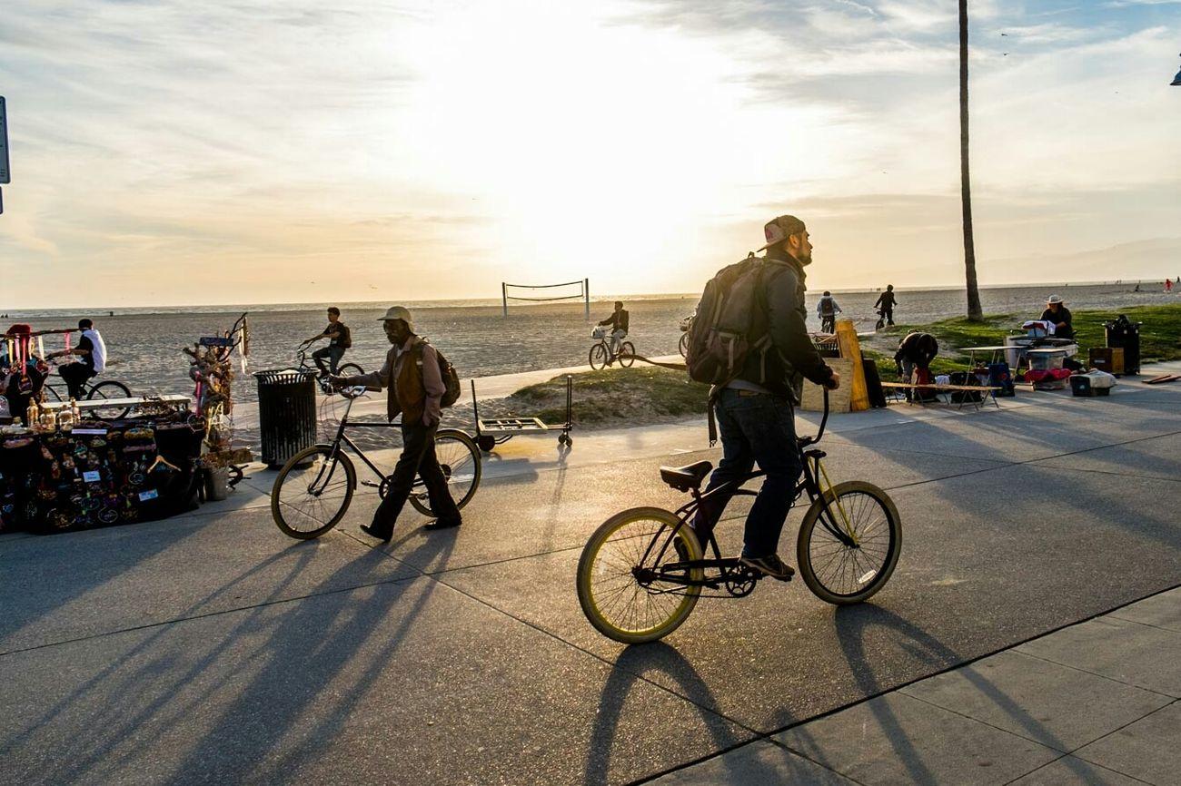 Venice Beach Los Angeles, California Beach Photography Sunset California Bmxlife Street Photography Bmx  Urban Exploration Bike Eyemstreetphoto Urban Perspectives