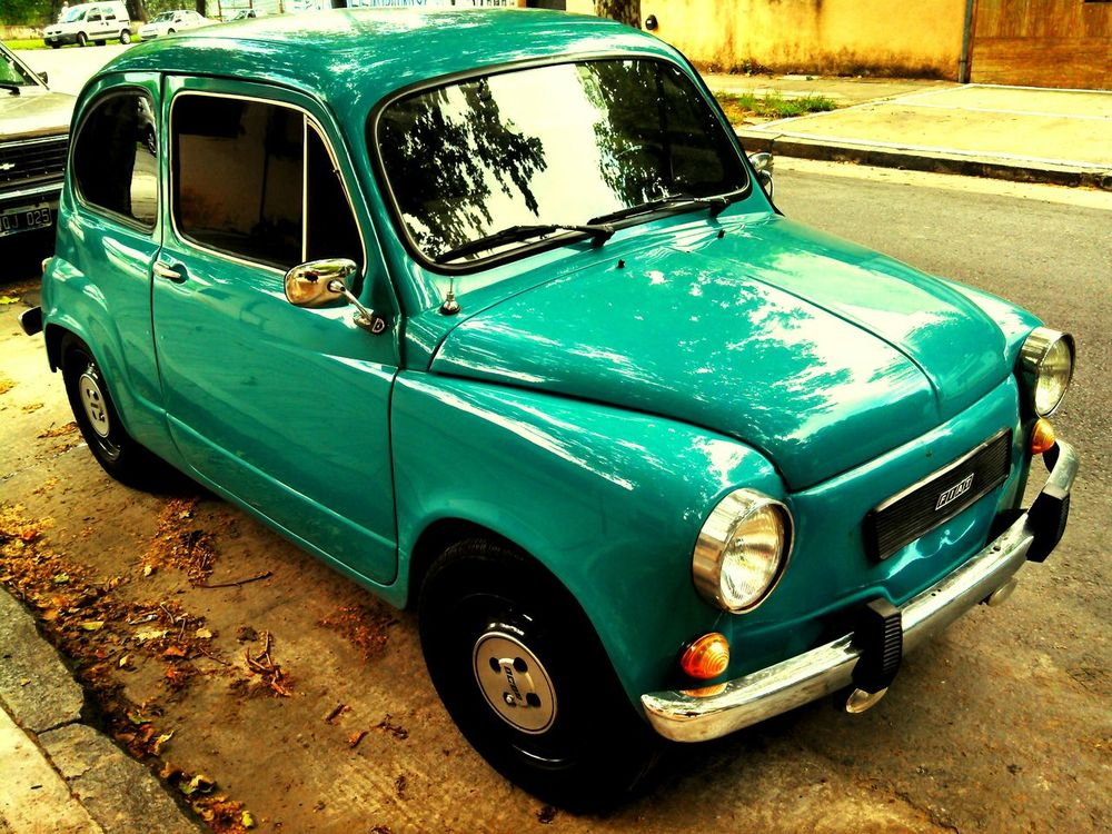 Car Fiat600 Fitito Parque Chas Buenosaires No People Outdoors Day Street
