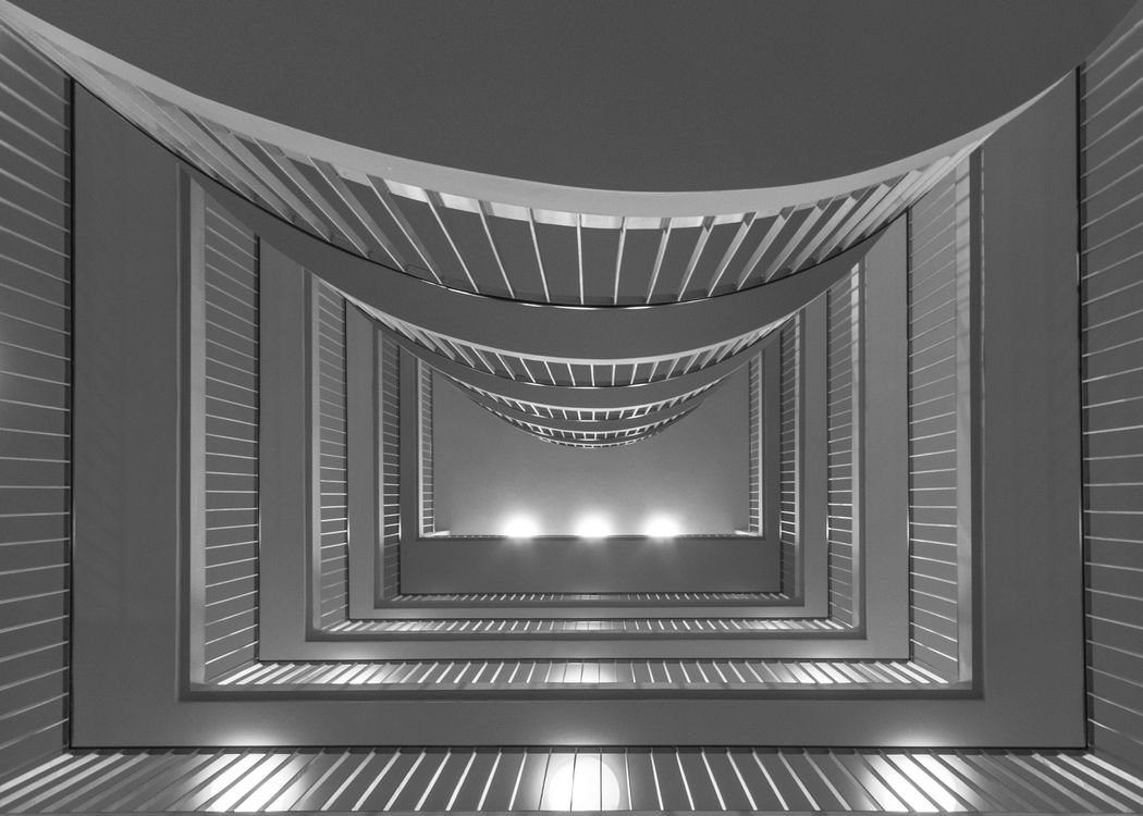 Round and square Fresh On Eyeem  Architecture Building Exterior Built Structure Close-up Day Floors Geometric Shape Hotel Indoors  Low Angle View No People Pattern Railing Spiral Staircase Steps Steps And Staircases
