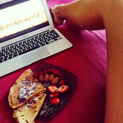 That's Me MacBook Pancakes Strawberry Food Foodporn FastAndFurious7 Watching A Movie Legs Relaxing Fast and Furious 7 ❤️😍