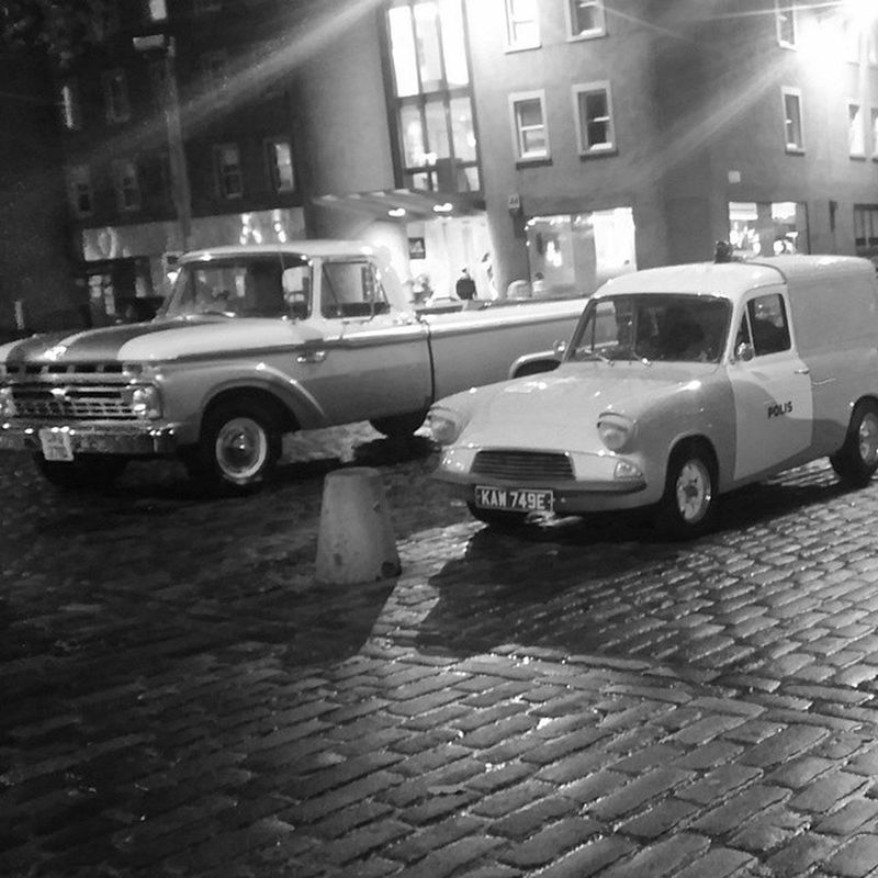 Back to the 60s Edinburgh 1960s Ford Ford F100 Ford Anglia Street Photography Blackandwhite