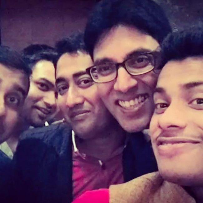 Rajdeep da's reception party