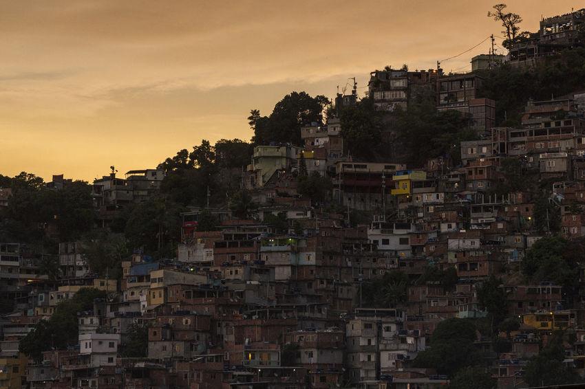 Sunset at Vidigal favela Brazil City Cityscape Cloud - Sky Favela Favelabrazil Favelas Rio De Janeiro Rio De Janeiro Eyeem Fotos Collection⛵ Rio De Janeiro, Brazil Slum Slums Social Issues Sunset Vidigal
