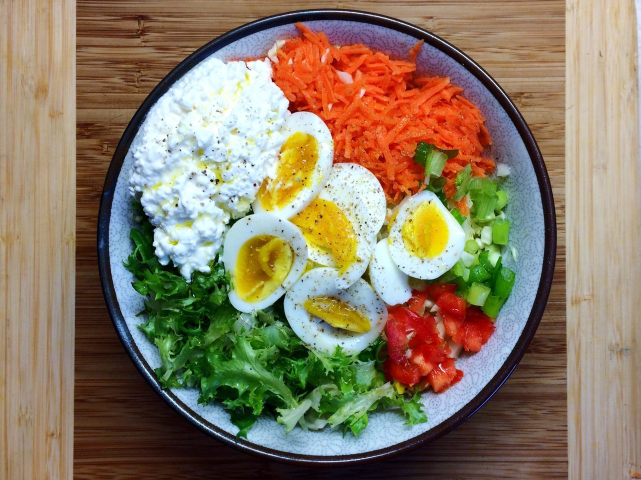 Egg Fried Egg Healthy Eating Egg Yolk Food High Angle View Directly Above Breakfast Indoors  Table No People Plate Freshness Ready-to-eat Sunny Side Up Close-up Day