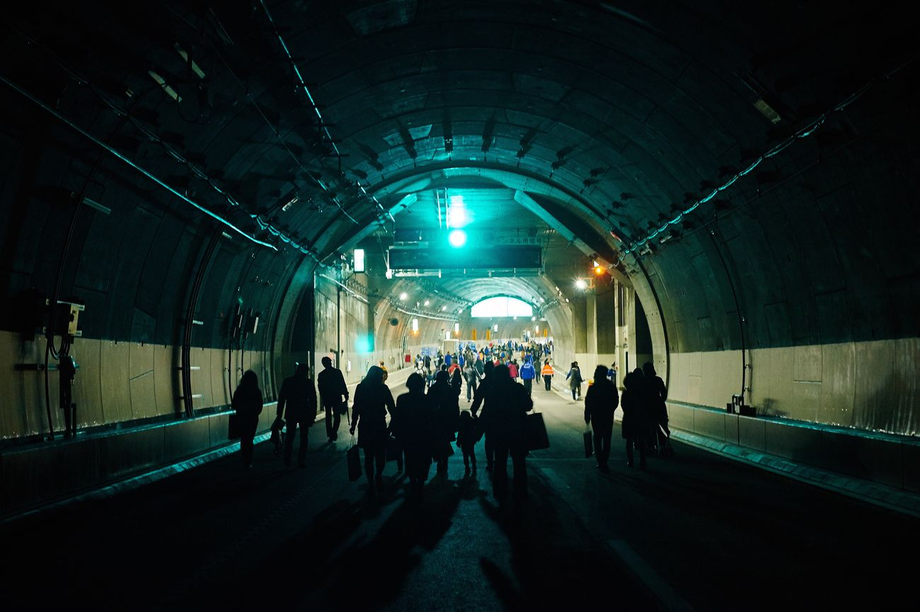 Large Group Of People Real People Subway Station Lighting Equipment Indoors  Men Commuter Rush Hour Illuminated People Women Tunnel Adults Only Crowd Adult Day Eye4photography  EyeEm Best Shots Exposure Tunnels Tunnel Vision Silhouette Japan People Photography