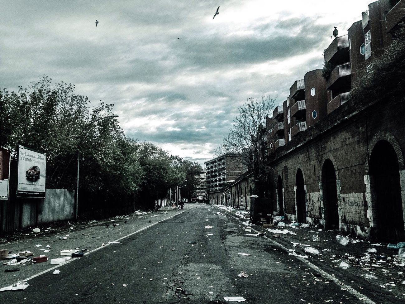 post-apocalyptic scenarios after Porta Portese's market Postapocalyptic Fear Desert Solitude