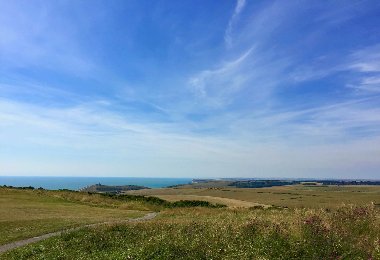Beachy Head Blue Cloud - Sky Day England Horizon Over Water Landscape Nature No People Sea Sky View