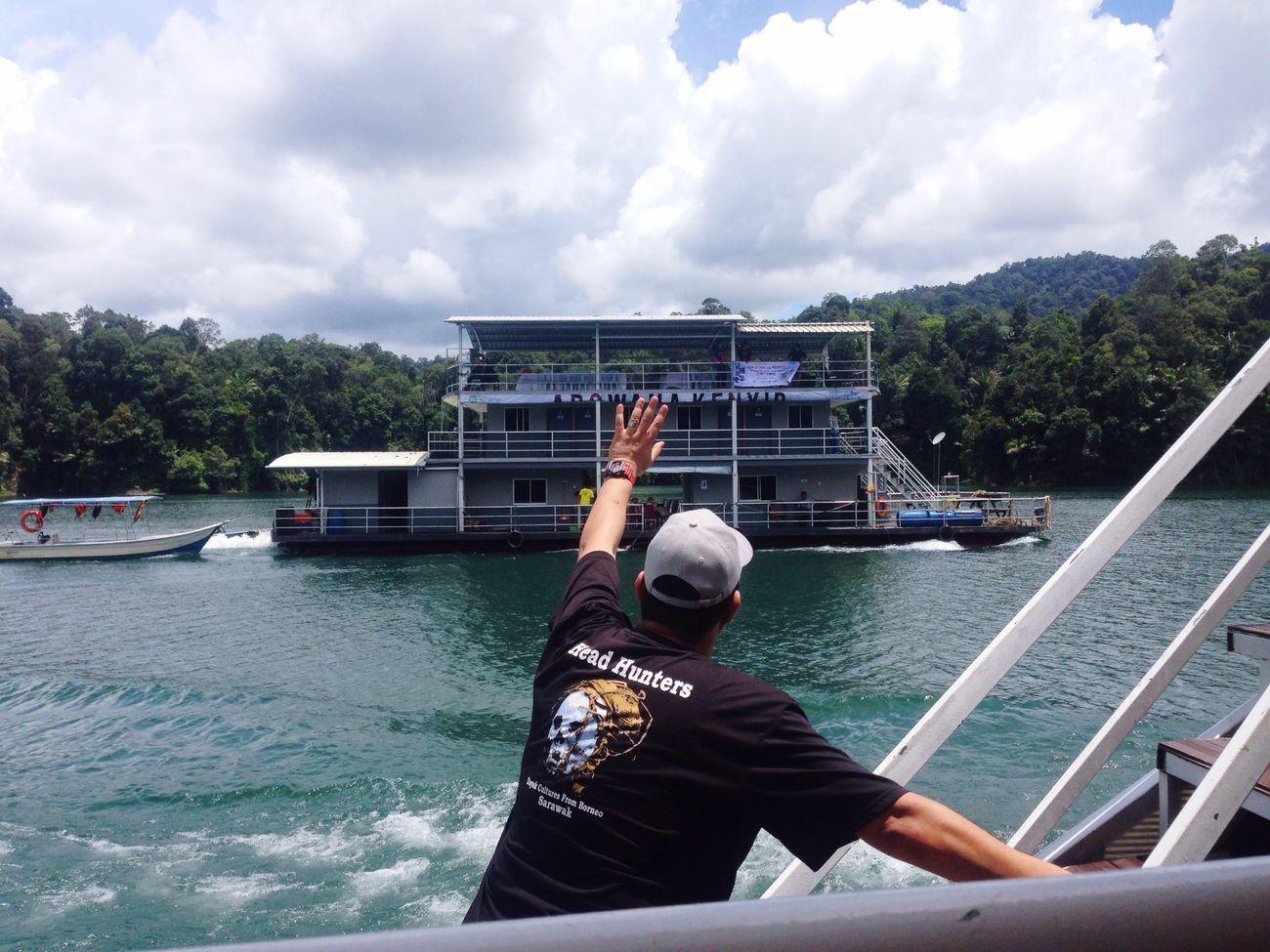 Malaysia Kenyir Terengganu Houseboat Cruise Lake Water